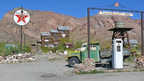 old gas station near a historic gold mine in Las Vegas
