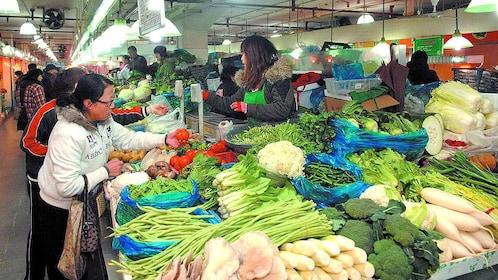 Produce market in Shanghai