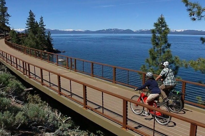 Some of the charming bridges you'll ride across along the Tahoe East Shore Trail