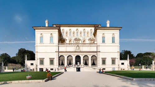 Outside the Borghese Gallery in Italy