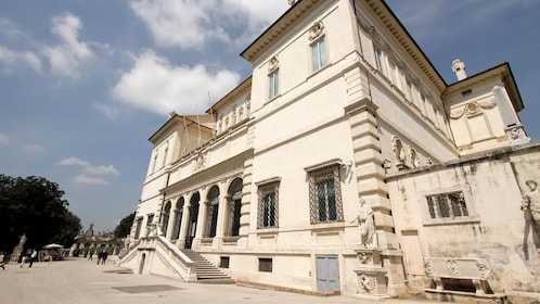 Side view of the Borghese Gallery building in Italy