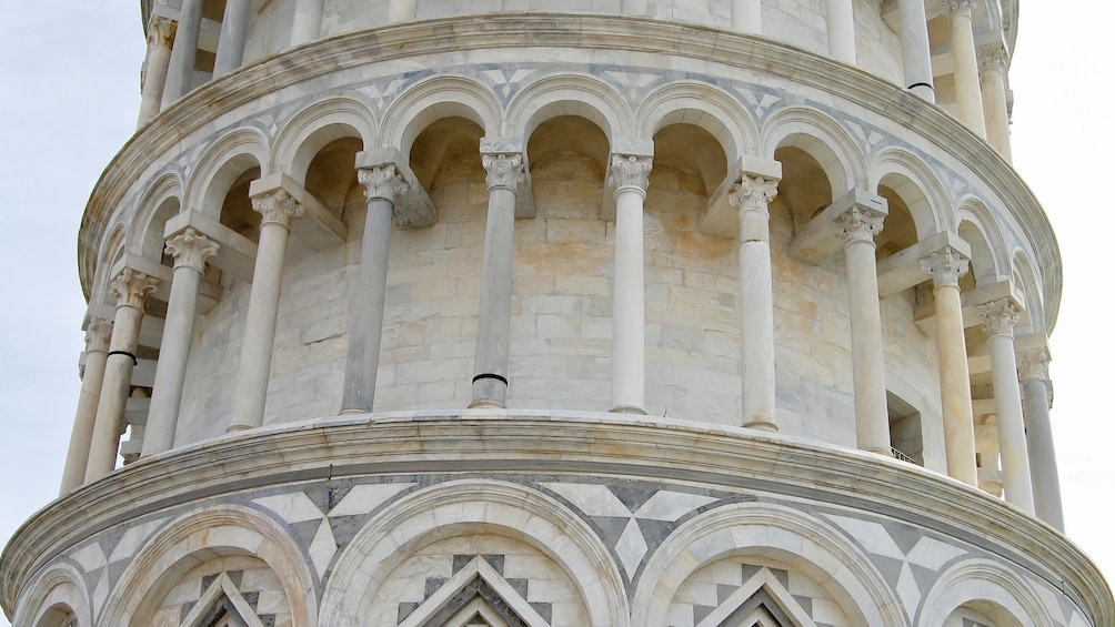 Show item 5 of 10. Close up view of the Tower of Pisa in Italy