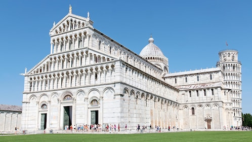 View of the Pisa Cathedral Square in Italy