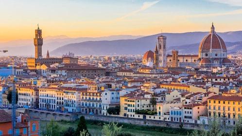 Sunset panoramic view of Italy