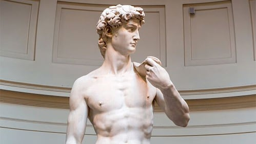 David Sculpture by Michelangelo sculpture at the Accademia Gallery in Italy