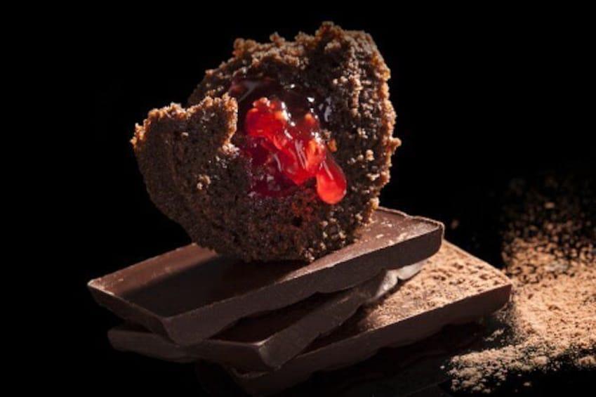 Chocolate fondue in the dark