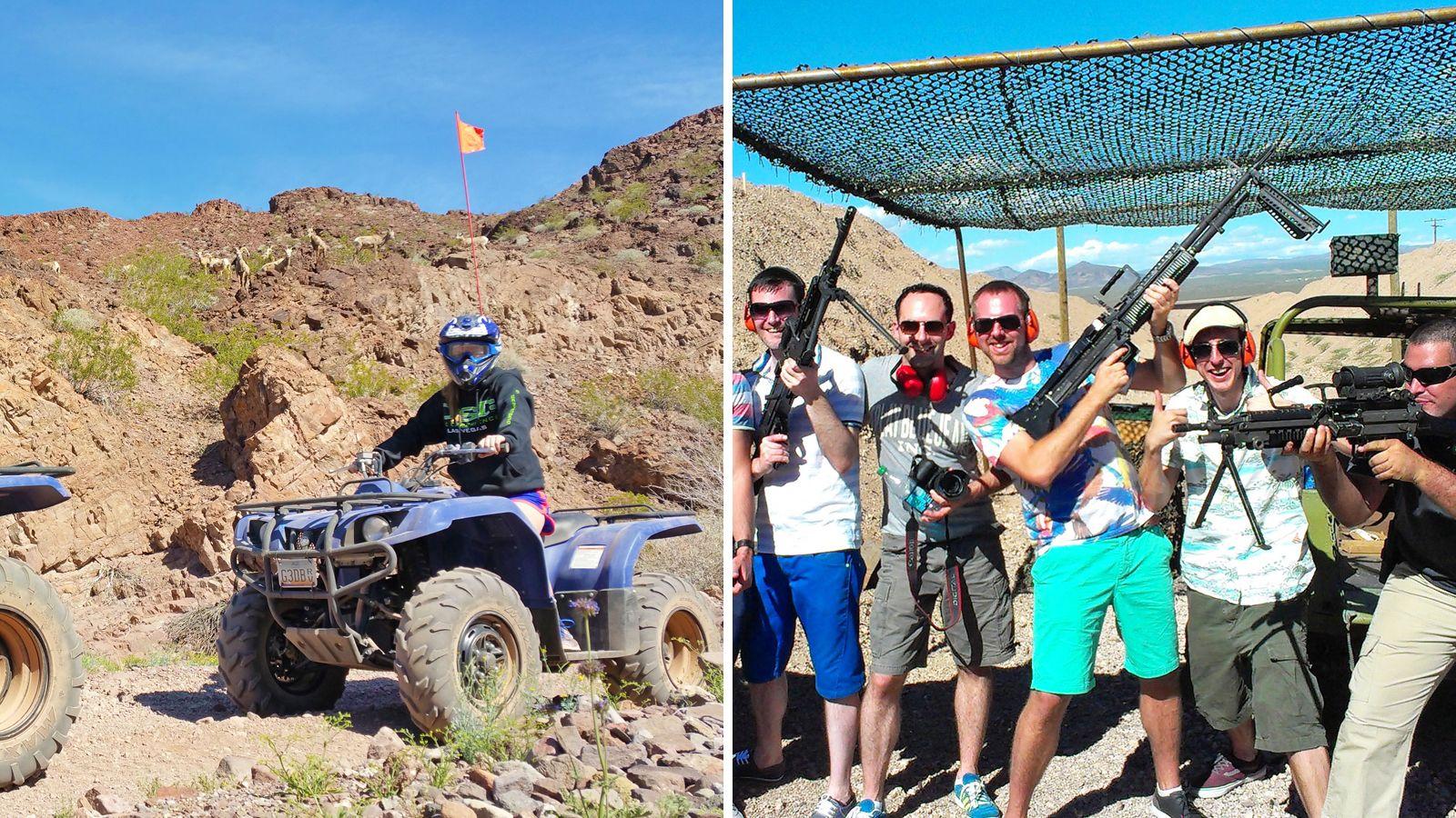 Combo image of activities in Las Vegas