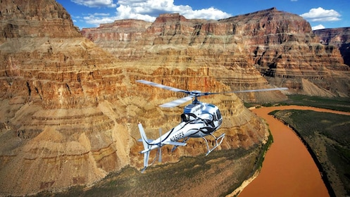 helicopter flying above a river in Las Vegas