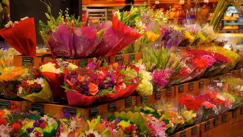 Fresh flowers for sale at a market in Indianapolis