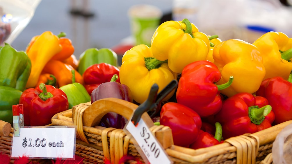 Show item 2 of 5. Colorful peppers at a market in Cleveland
