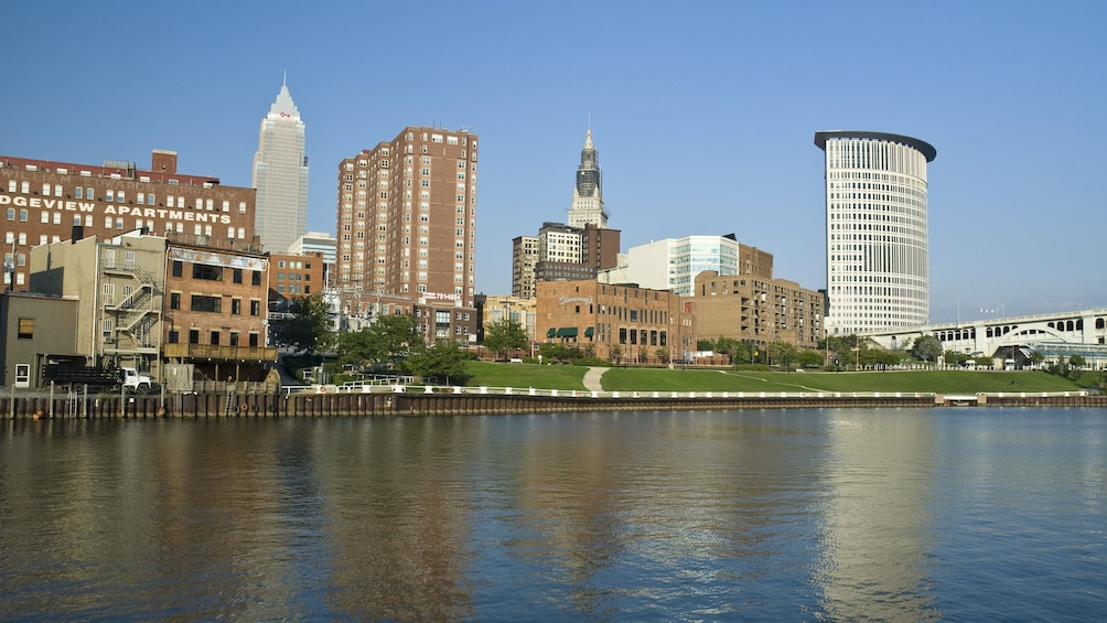 Show item 5 of 5. View of the city in Cleveland