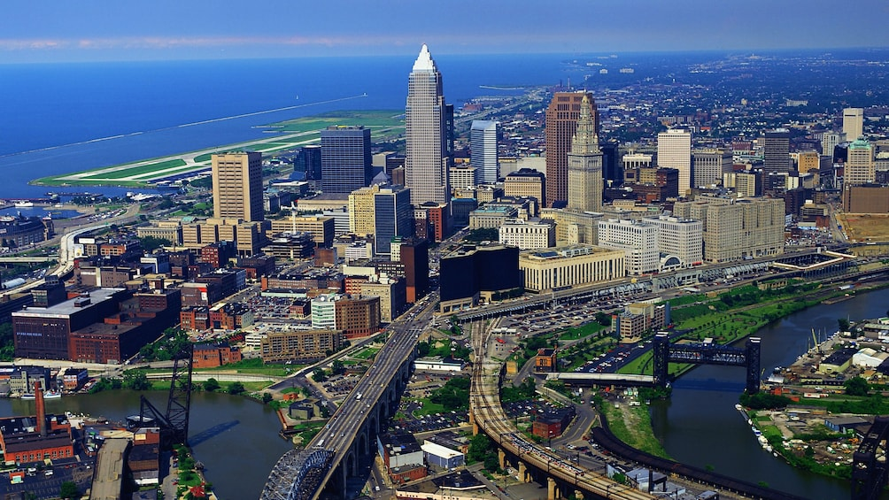 Show item 3 of 5. Cityscape of Cleveland