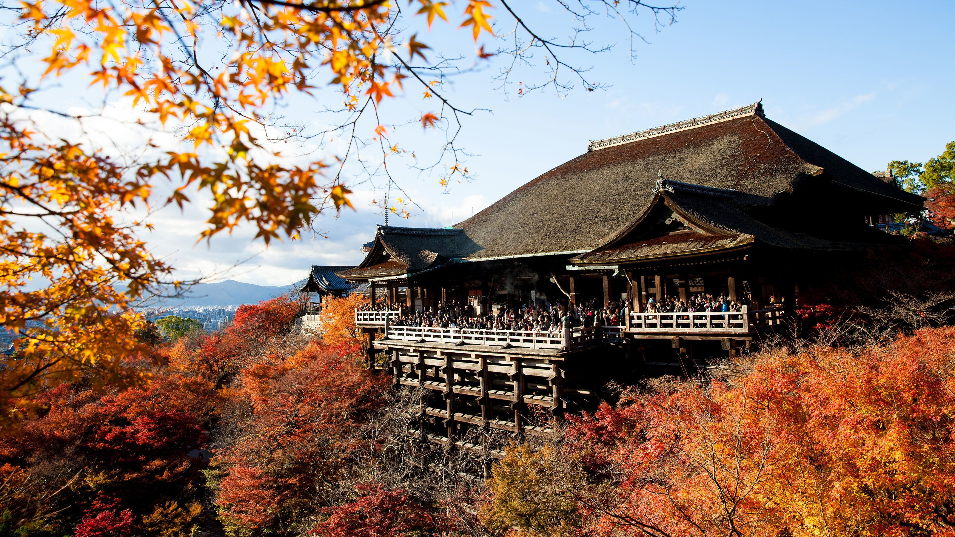 Serene view of the Kiyomizu-dera Temple in Kyoto, Japan