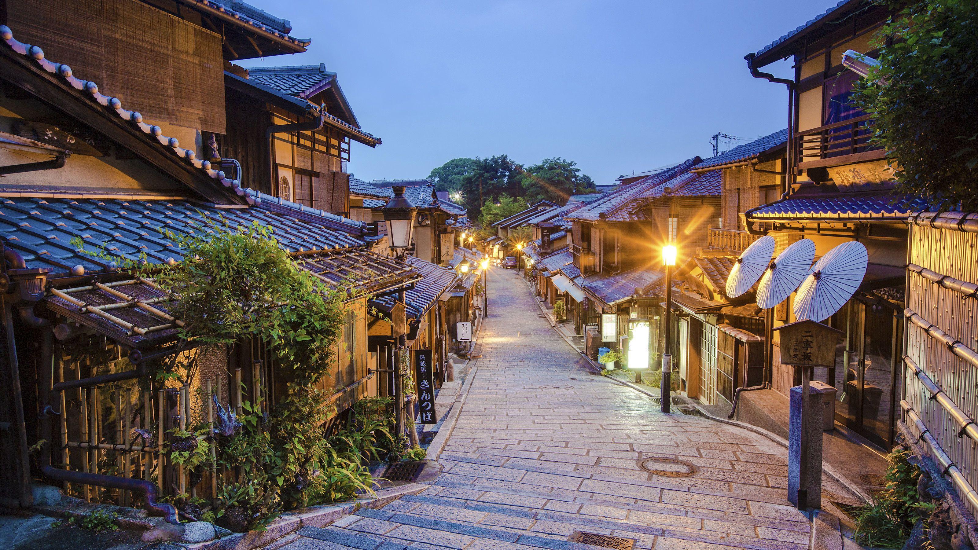 Night street view of Japan