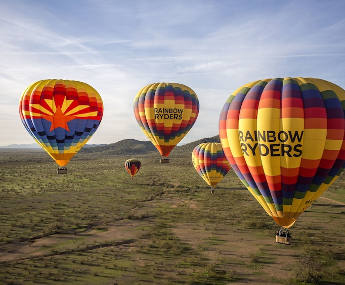 Show item 3 of 10. Sonoran Desert Sunset Hot Air Balloon Ride
