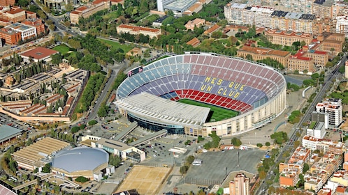 Aerial view of Camp Nou Stadium in Barcelona