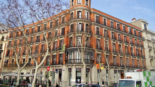 A red brick building in Madrid