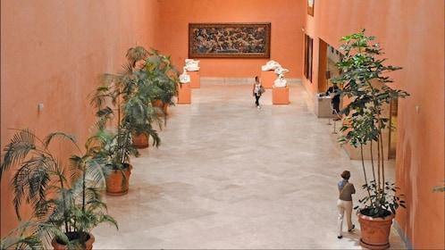 Inside the Thyssen-Bornemisza Museum in Spain