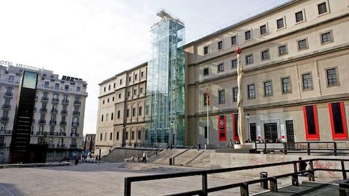 Front view of the Museo Nacional Centro de Arte Reina Sofía in Spain