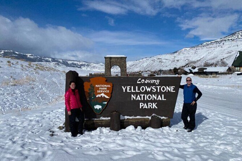 Show item 1 of 30. Yellowstone Winter Private Jeep Tour from Bozeman