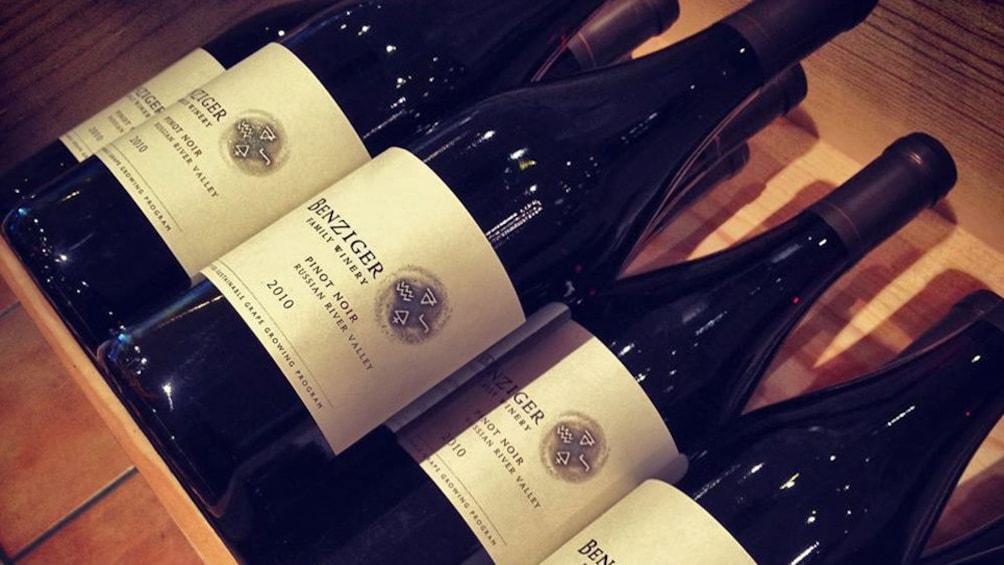 Wine bottles in california