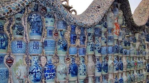 Ceramic wall display in Tianjin