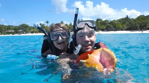 Snorkelers in the Caribbean