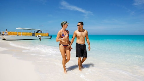 Couple enjoying their time in the Turks and Caicos
