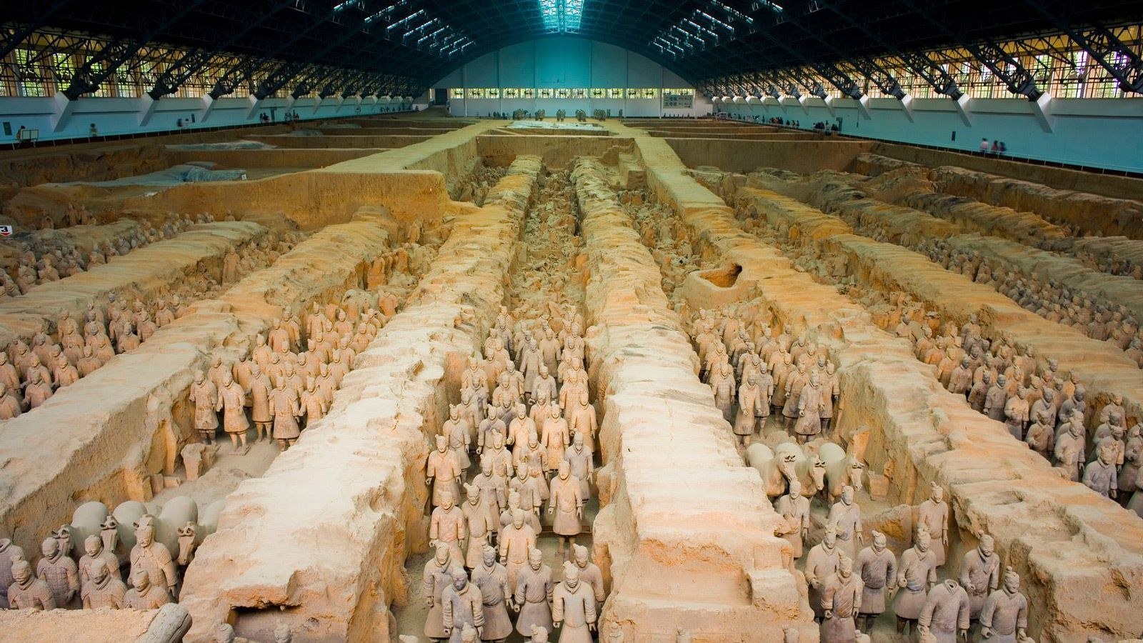 Stunning view of the terra cotta warriors in Xi'an