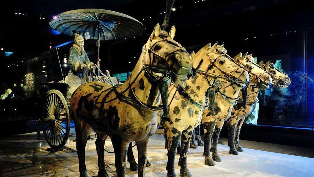 Horses and terra cotta warriors in Xi'an
