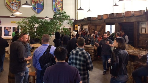 Group tour of the BOS Original Brew in Boston