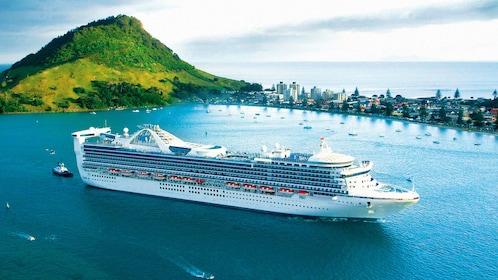 Stunning aerial view of the Tauranga Cruise Excursion in Rotorua
