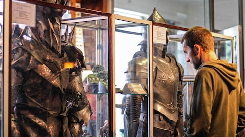 displays of costumes from movie