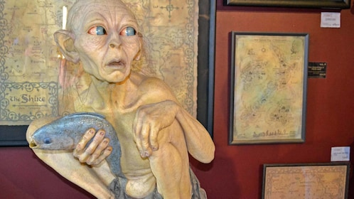 model of gollum with a fish