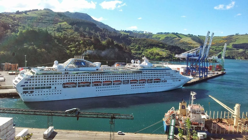 Show item 5 of 5. Large cruise ship in New Zealand