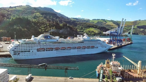 Large cruise ship in New Zealand