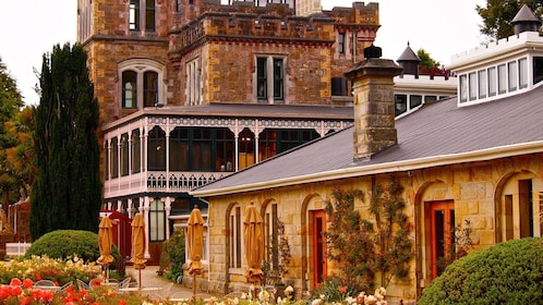 Close view of the castle in Christchurch