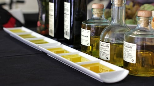 Olive oils at the Spanish Paella-Cooking Workshop in Malaga