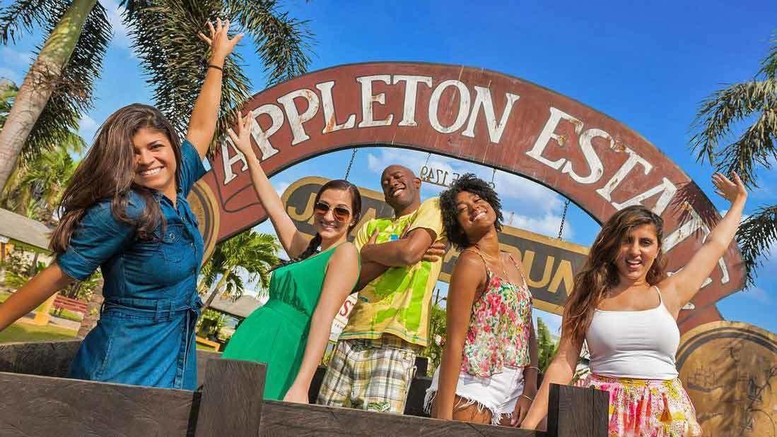 friends happily entering appleton estates