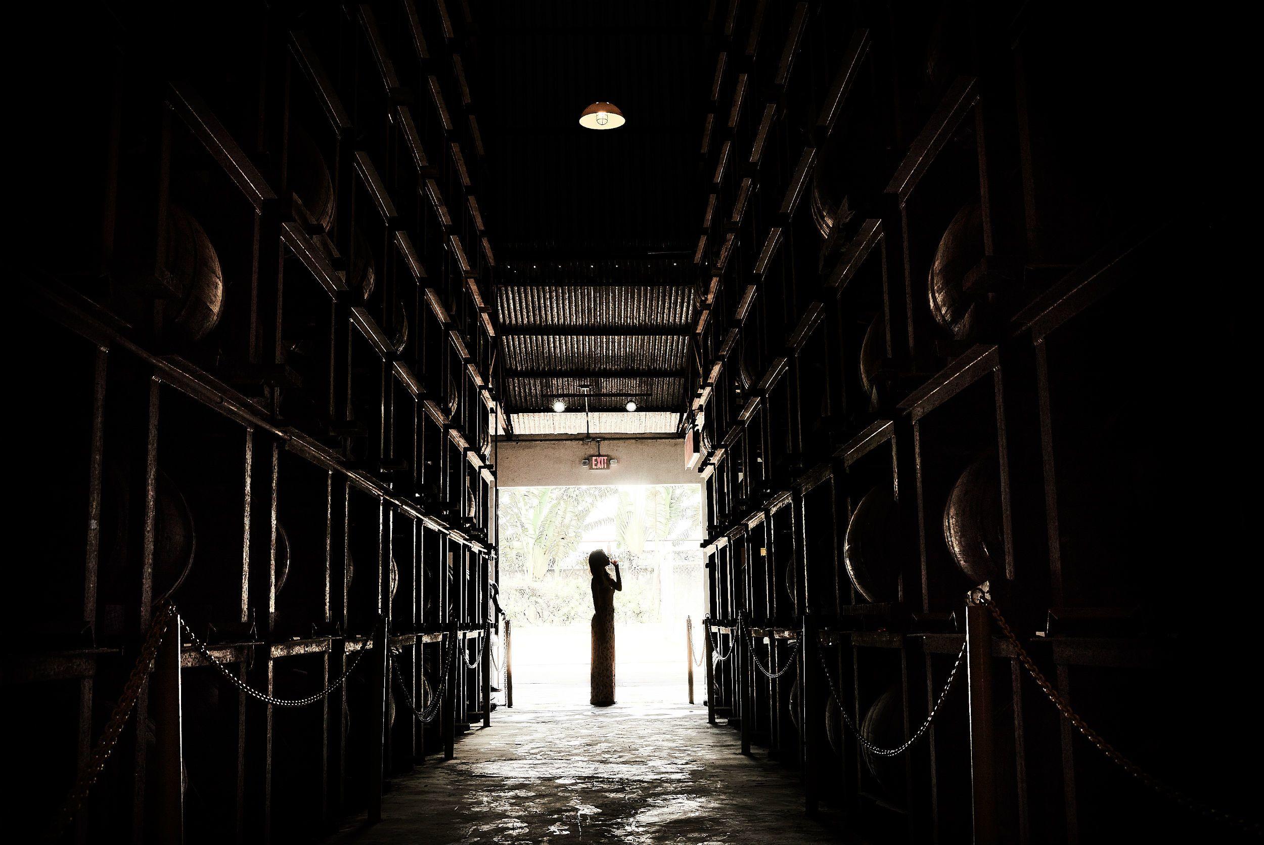 The cellar at the Appleton Estate Rum Factory