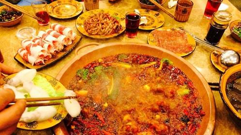 Hot meal in Chengdu
