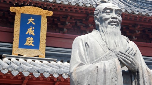 Close view of a monument in Nanjing