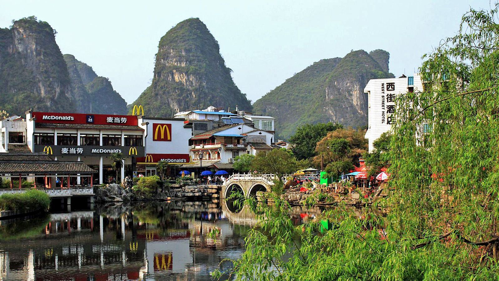 Panoramic view of the beautiful city of Guilin