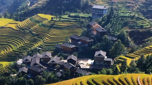 Beautiful aerial day view of Guilin