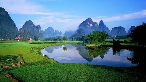 Serene view of Yangshuo