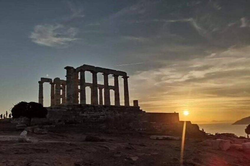 Sunset Sounio Half Day 5 Hours Private Tour.