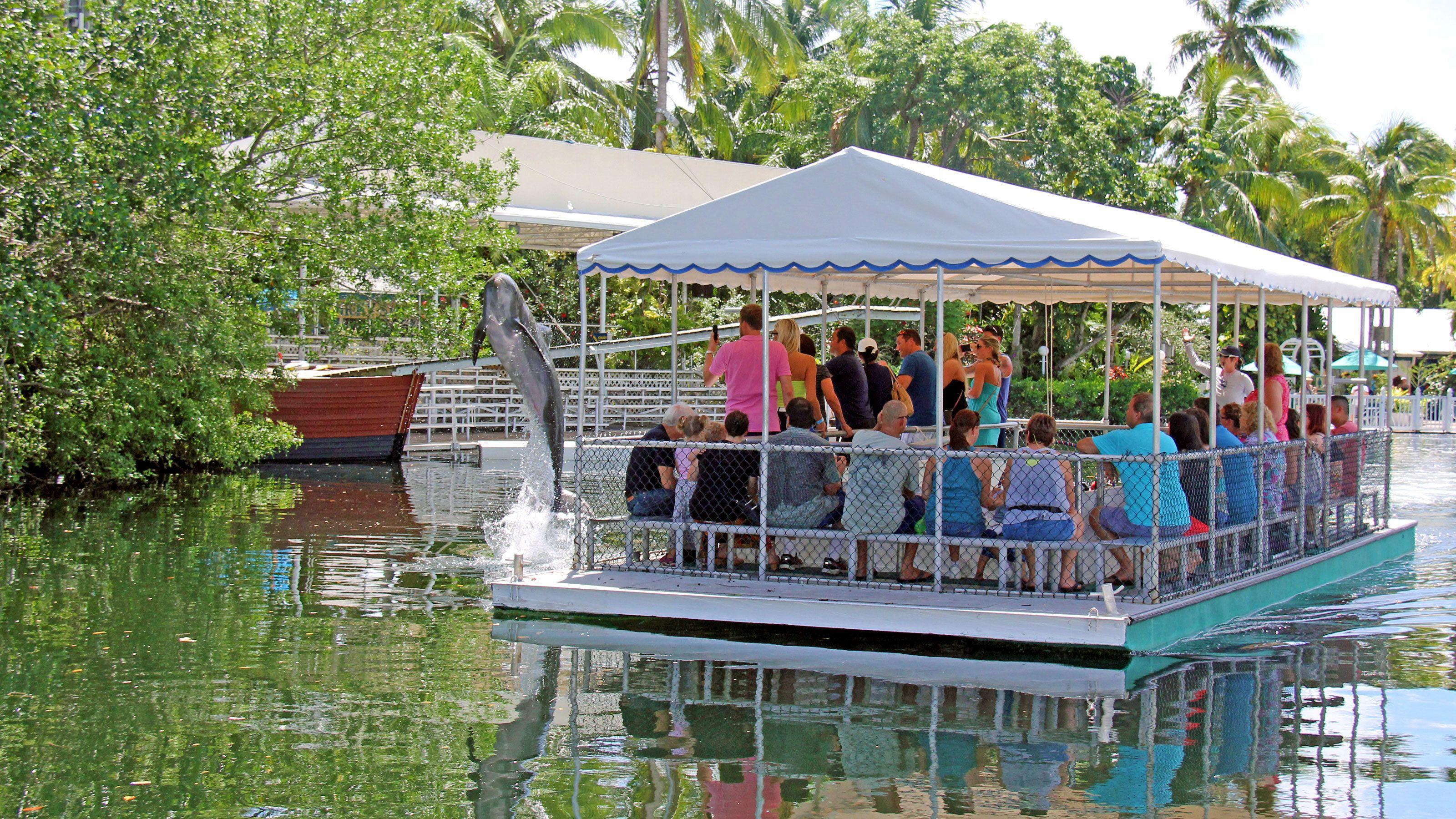 Boat sail at Theater of the Sea in Islamorada, Florida