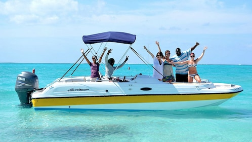 Adults having fun on the private charter tour in the Turks and Caicos