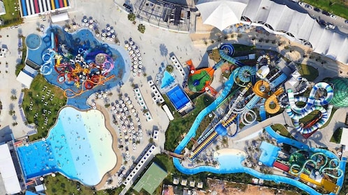 aerial view of water park in pattaya
