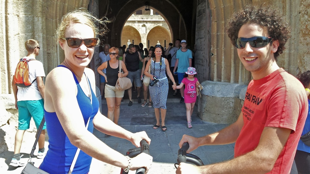 Show item 5 of 5. segway riders close up in rhodes